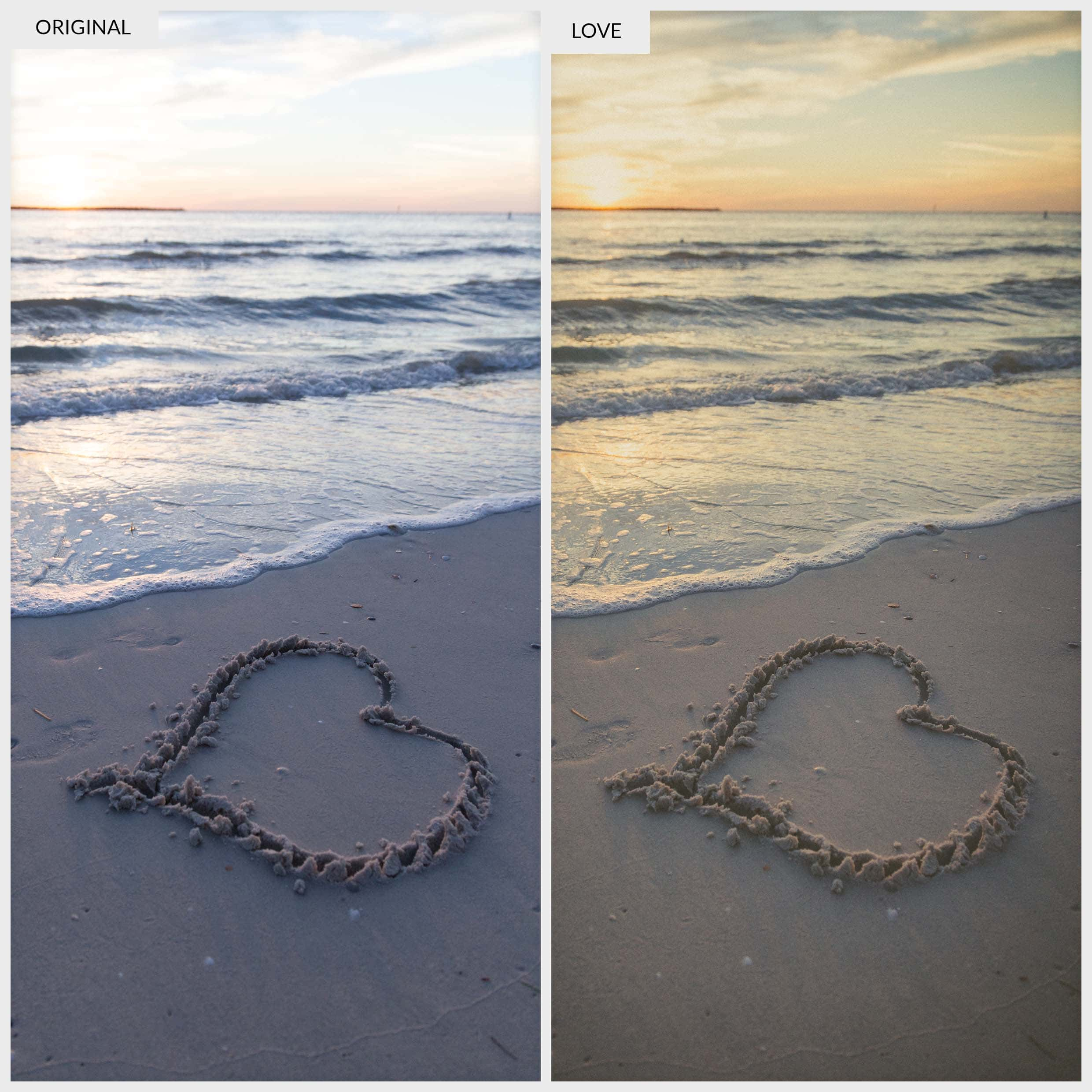 Presetpro Free Lightroom Preset - Love