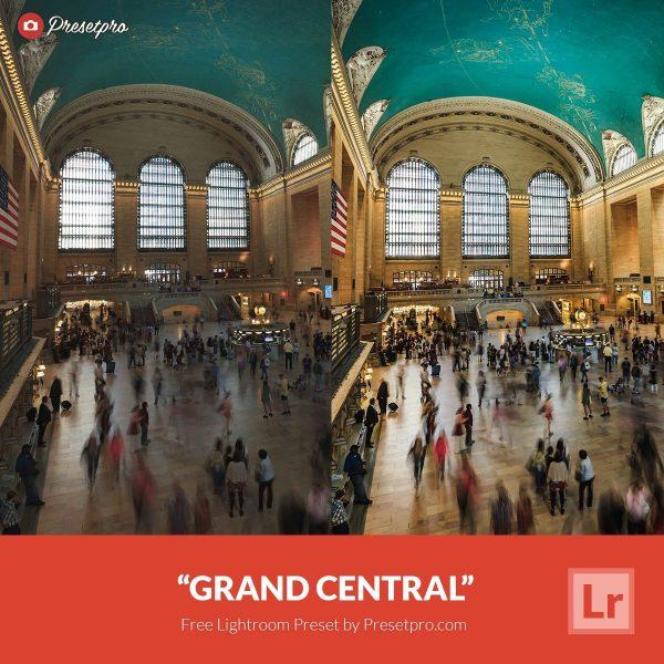 Free Lightroom Preset Grand Central