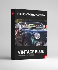 Free Photoshop Action - Vinatge Blue