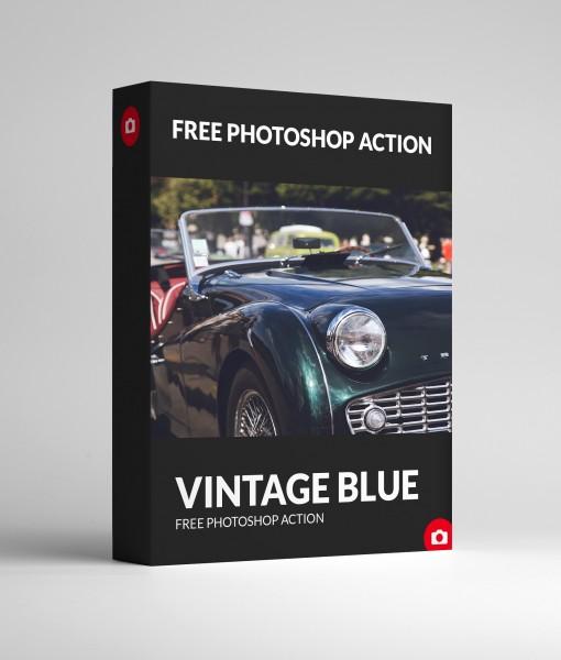 Free Photoshop Action – Vinatge Blue