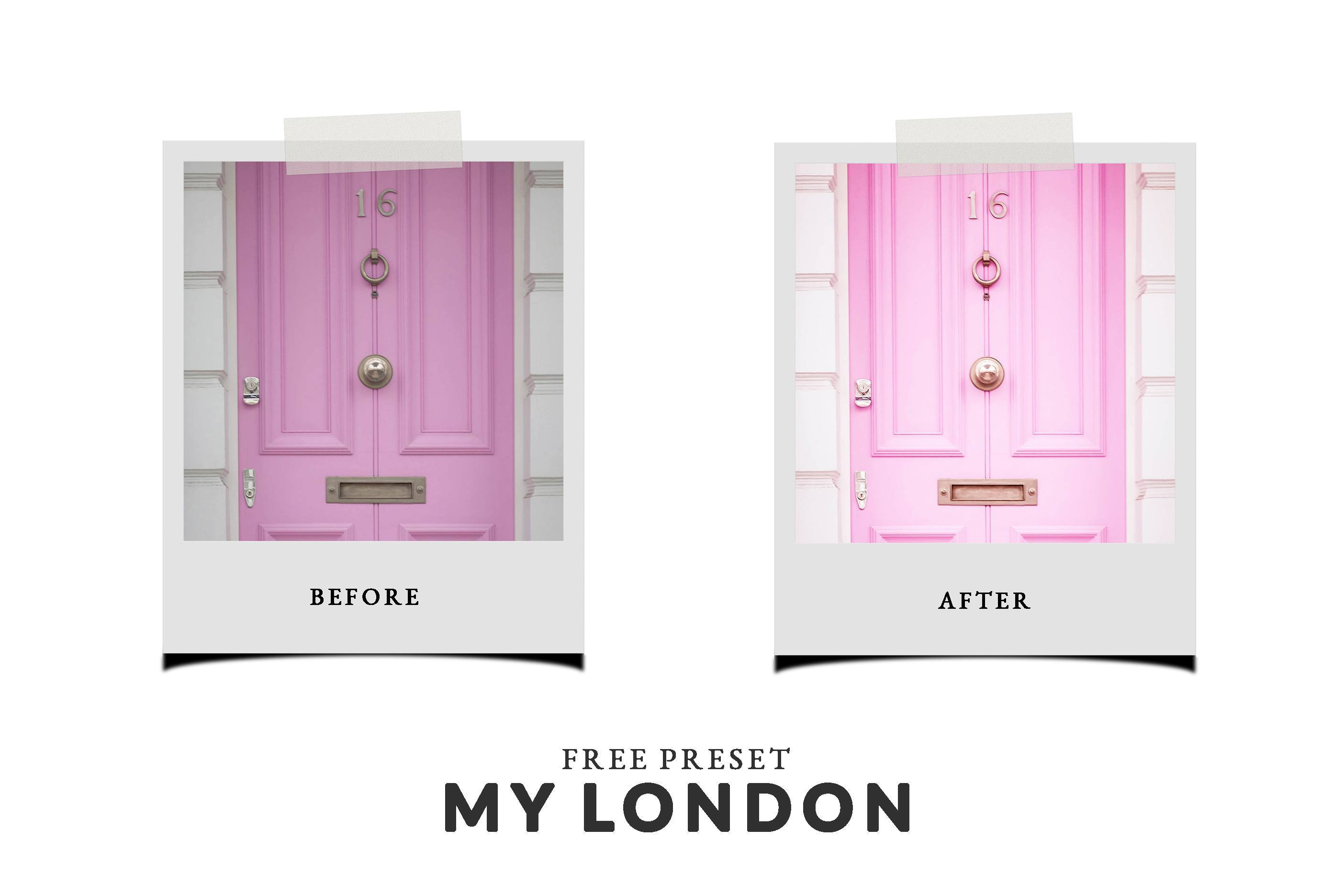 Free Lightroom Preset My London Before and After