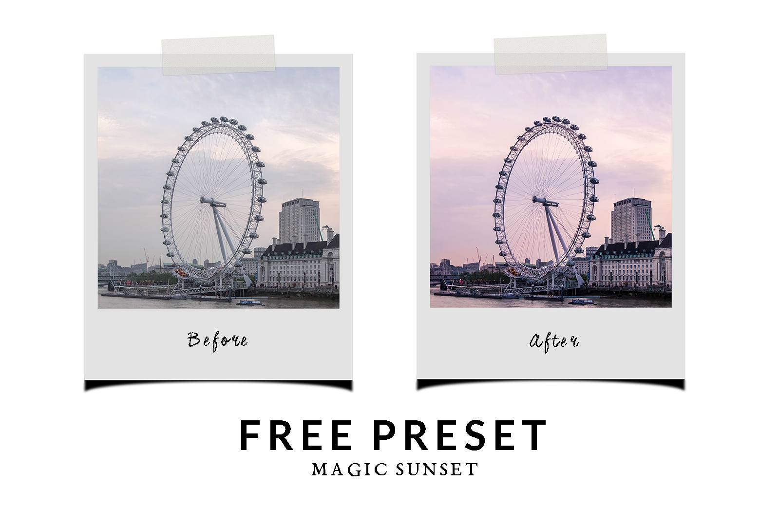 free-chic-Lightroom-preset-magic-sunset